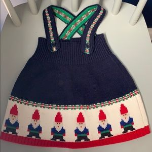Hanna Andersson gnome holiday dress 70cm